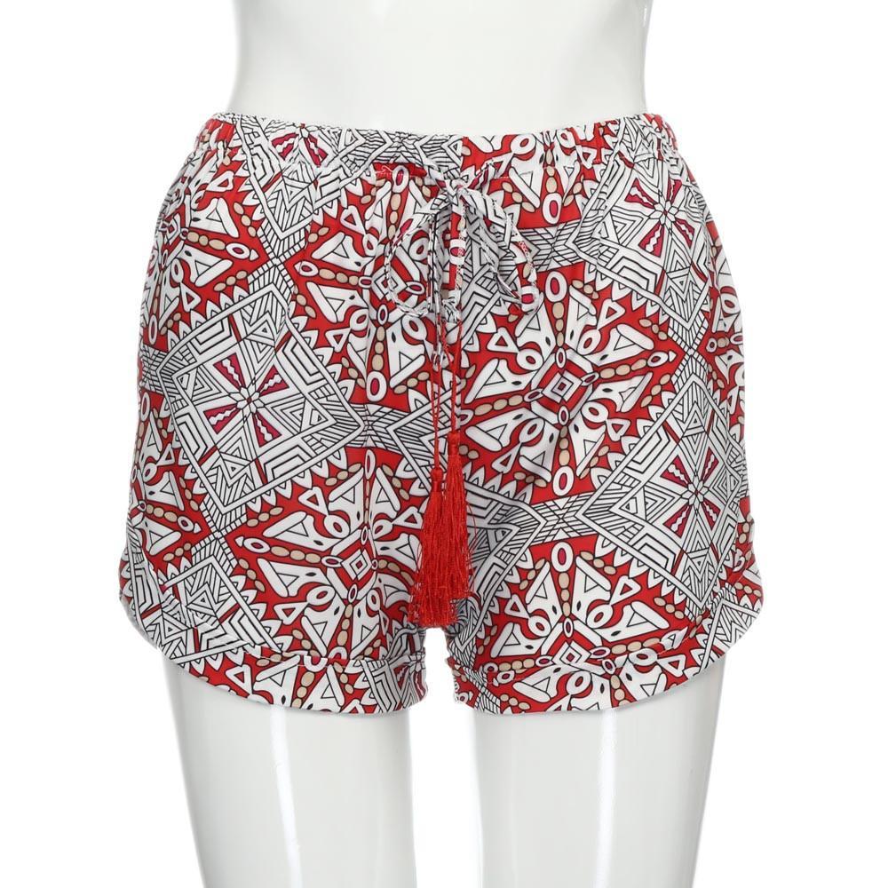 30a6029be92c Feitong Mujeres Pantalones Calientes Sexy Imprimir Pantalones Cortos  Casuales de Estilo Bohemio Pantalones Cortos de Cintura Corta Pantalones  Cortos ...