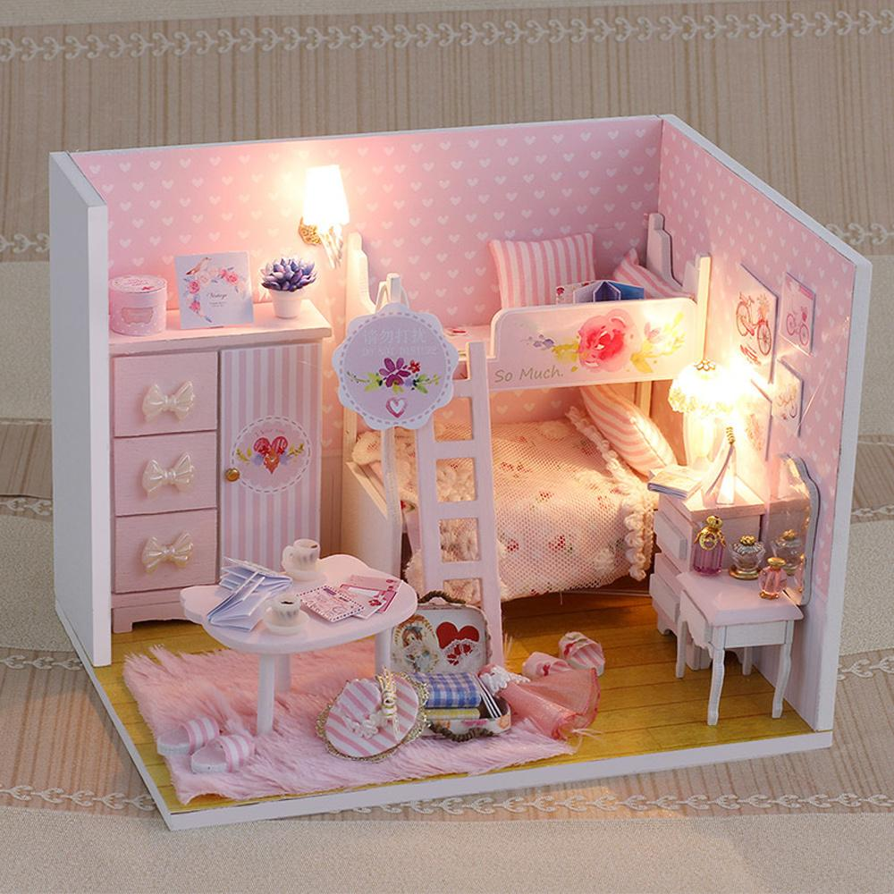 inexpensive dollhouse furniture. Handmade Doll House Furniture 3d Wooden Miniatura Diy Miniature Dollhouse With Dust Proof Cover Toys For Children Gift Buy Cheap Inexpensive M