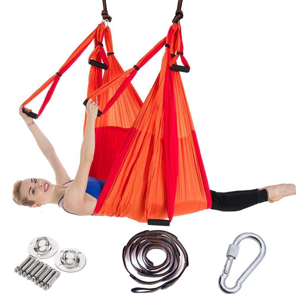 cc0563c3db Full Set 6 Handles Yoga Hammock Anti Gravity Nylon Flying Swing Trapeze  Aerial Traction Device Home GYM Hanging Belt Dyna Band Exercise Band  Workout From ...