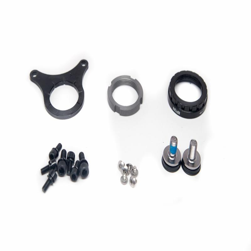 Bafang Assembling Components Triangle Mounting Plate Crank Arm Bolts Inner Lock ring Outer Lock ring For 8fun Mid motor Kits