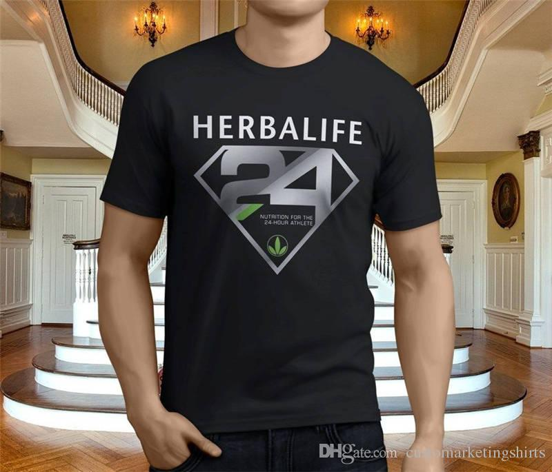 0fed0f5c46c4f Compre Camisetas Clásicas Con Remeras O Cuello Herbalife Hombres Camiseta  De Manga Corta Con Estampado A  11.0 Del Customarketingshirts