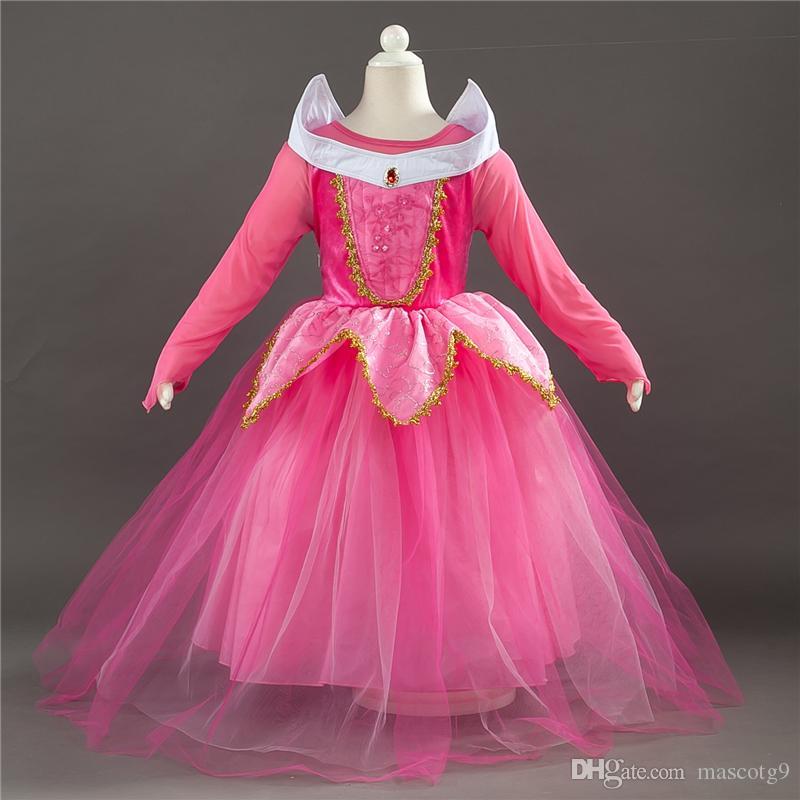2018 nouvelle robe de princesse chaude anime Sleeping Beauty dress robe vacances enfants montrent costume robe jupe costume