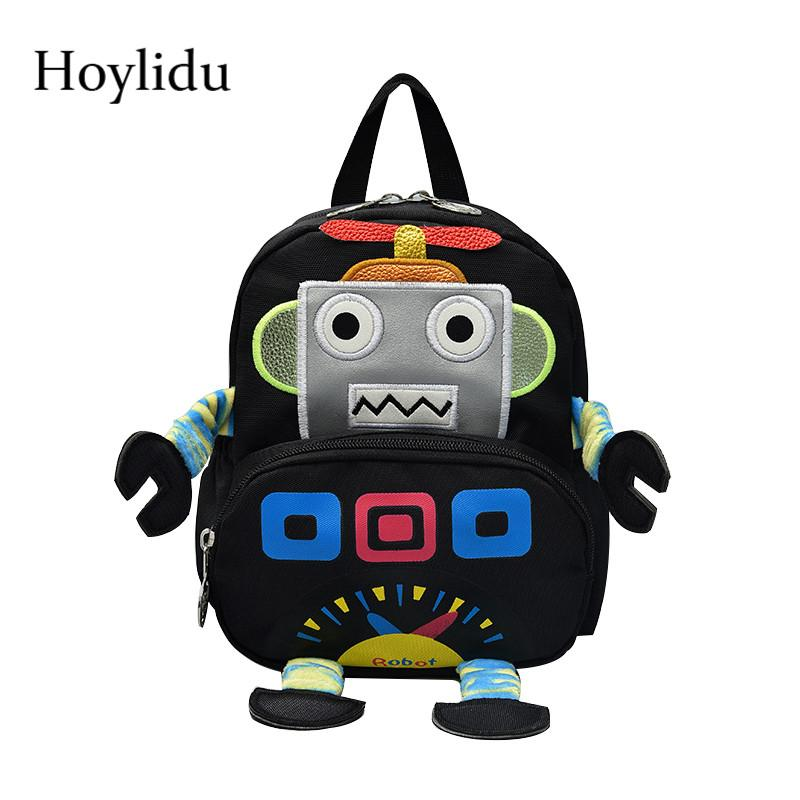 Cartoon 3D Robot Children S School Bags For Kids Waterproof Canvas Anti  Lost Design Kindergarten Boys Large Capacity Backpacks Designer Handbags  Laptop Bags ... b2b571106662b