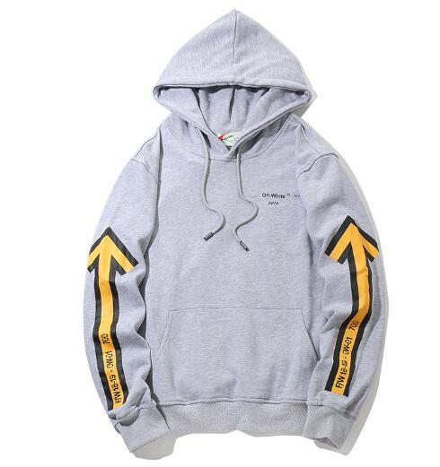 Free Shipping o6 Off hoodie white Hot Sales new loose men and women hooded sweater loose hoodie White and Black Couple hoodie wholesale