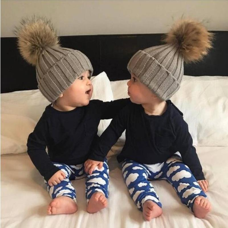 d35f60b60a5 2019 Cotton Winter Hat For Children Warm Lovely Baby Toddler Kids Beanie  Cute Pompom Soft Knitted Hats Plus Velvet Beanies Girls Boys From Fwuyun