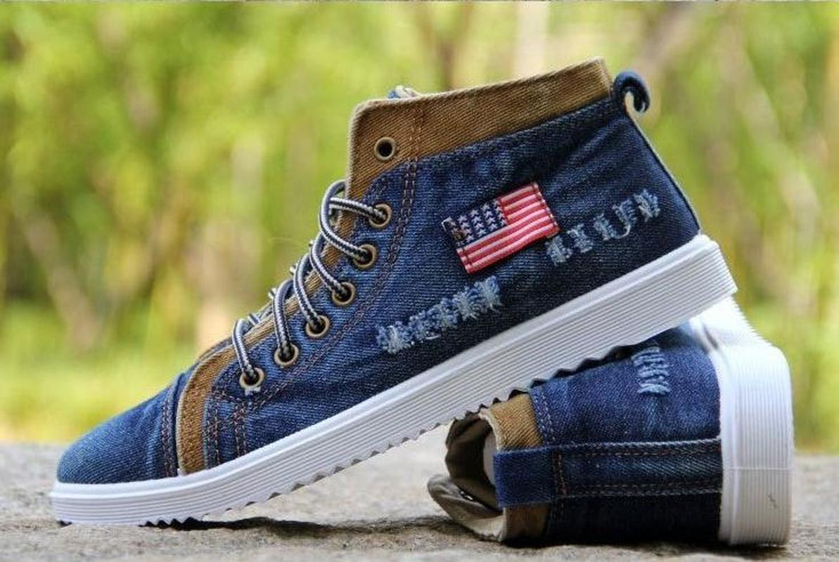 b595b893940ddb 2019 High Quality Fashion Men's Casual Shoes Fashion Jeans Canvas Shoes  Men's Fashion Canvas Short Boots Sneakers Sneakers