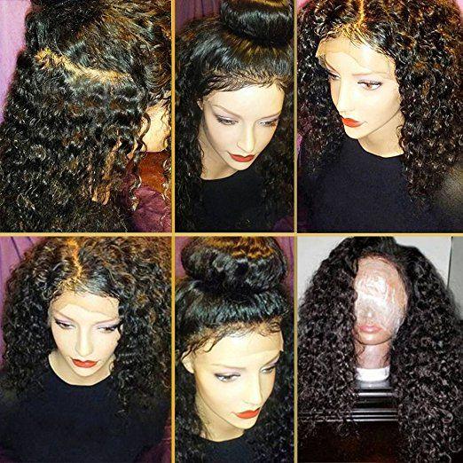 Kinky curly Full lace Humano Peruca de Cabelo 360 Dianteira Do Laço 130% densidade Peças Do Cabelo Humano 360 peruca dianteira do laço