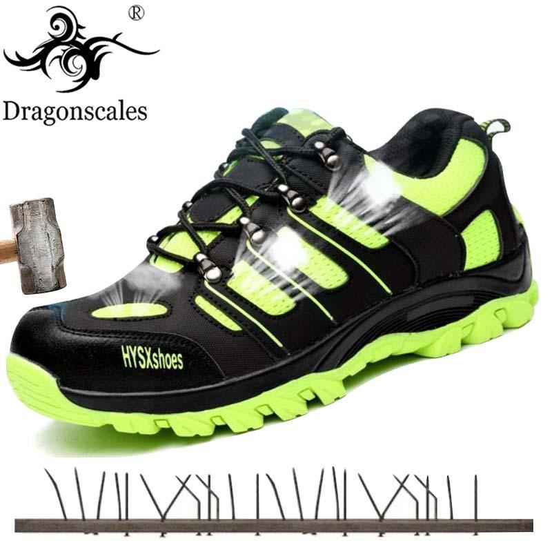 b2cd009f423f2 Acheter Embout D'acier Chaussures De Sécurité Pour Hommes Léger Respirant  Bottes De Travail Bottes Chaussures Anti Crevaison Construction Baskets De  $52.7 ...