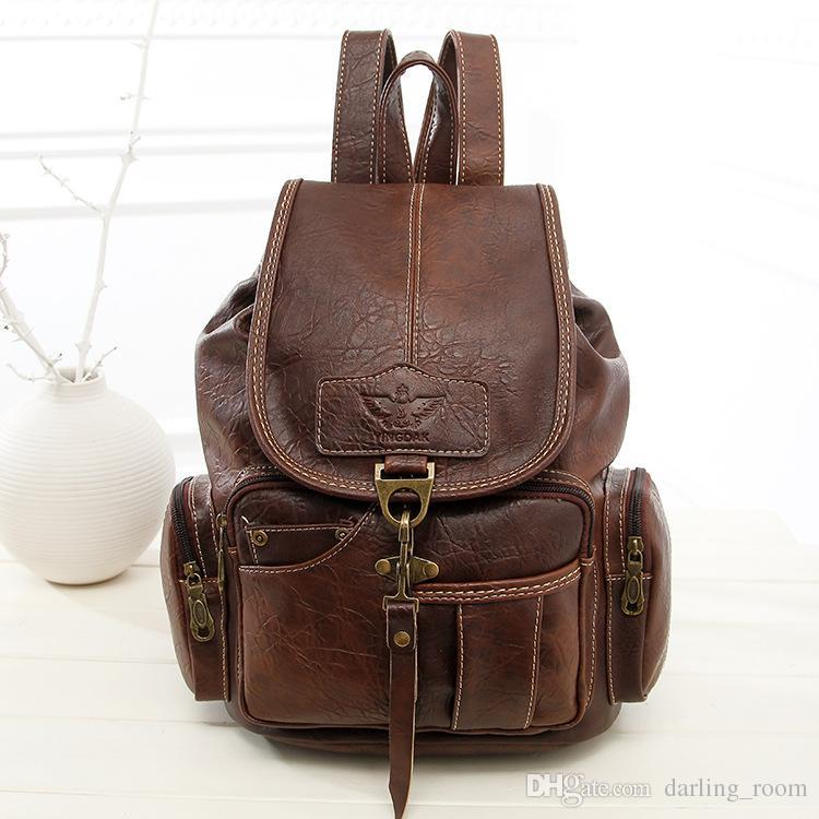 Fashion Backpacks for Teenage Girls Women s PU Leather Backpack ... 5e18cfe081baa