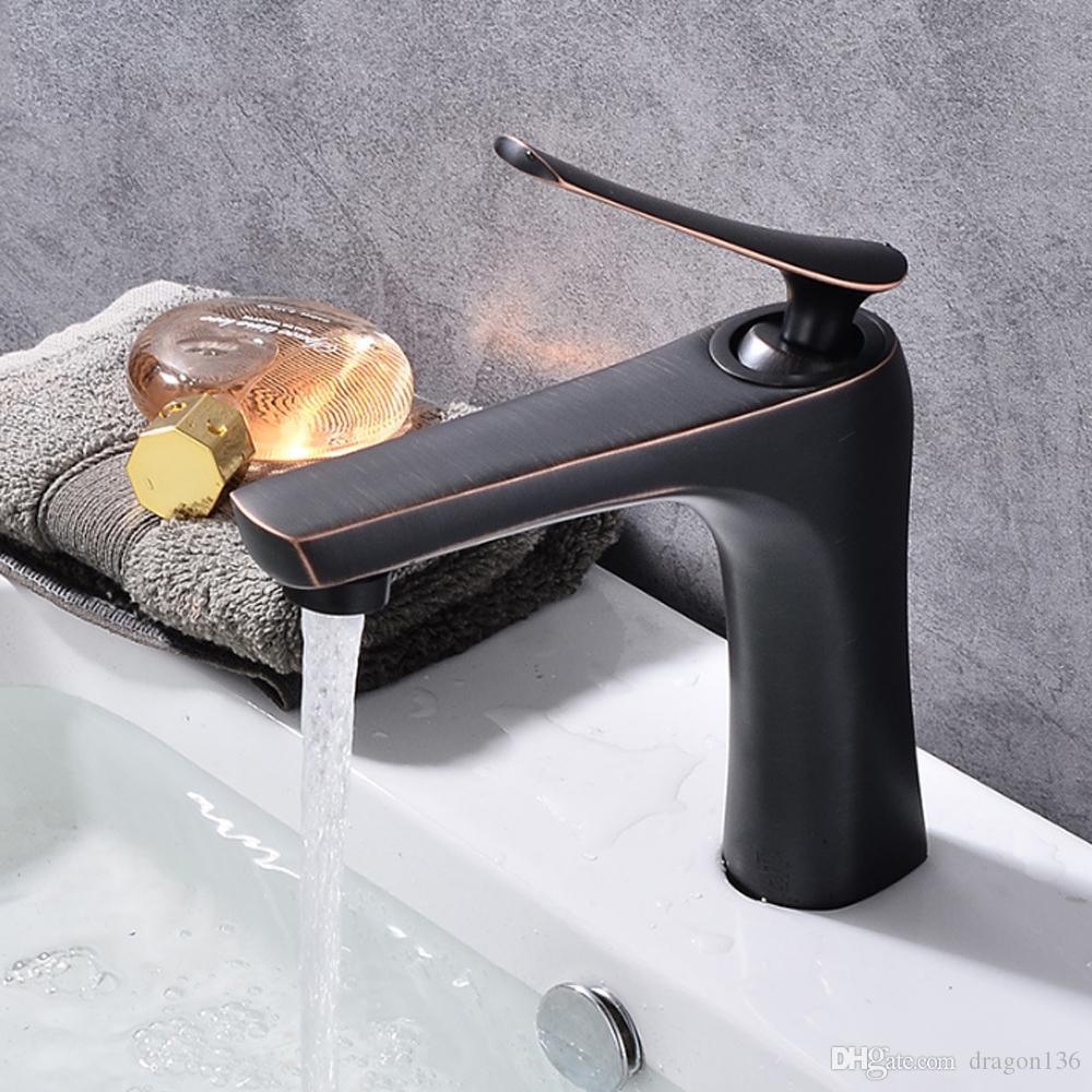 2018 Deck Mount Brass Bathroom Faucets Tap Vanity Vessel Sinks Mixer ...