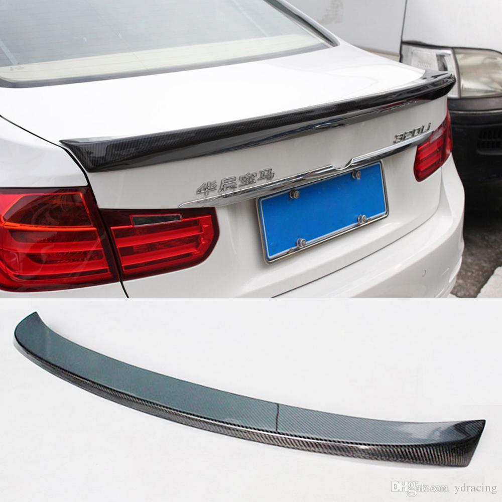2019 Car Styling Carbon Fiber Glossy Car Rear Spoiler Trunk Wings