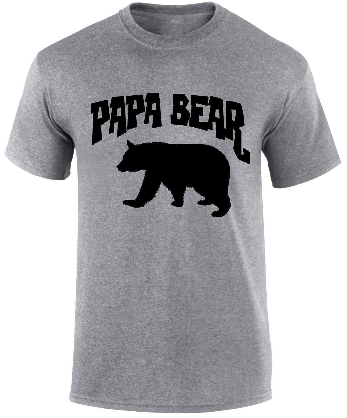 04126d5d40f5 Papa Bear Dad Father'S Day Man Daddy Slogan Funny Men'S T Shirt Top Gift  Shirts Design Online T Shirts From Amesion93, $12.08  DHgate.Com