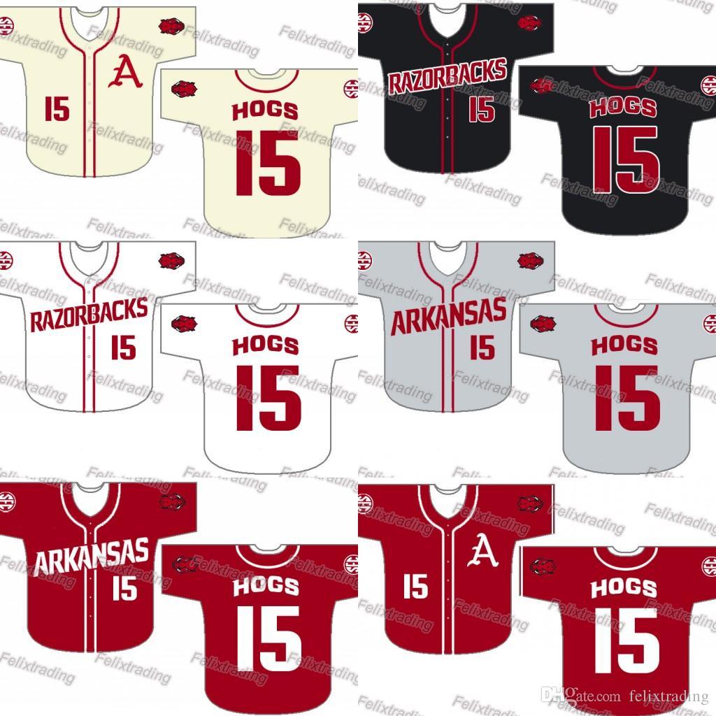 differently cce37 f7df0 Custom Arkansas Razorbacks Baseball Jersey Women Youth Men White All  Stitched Baseball Jerseys Fast Free Shipping