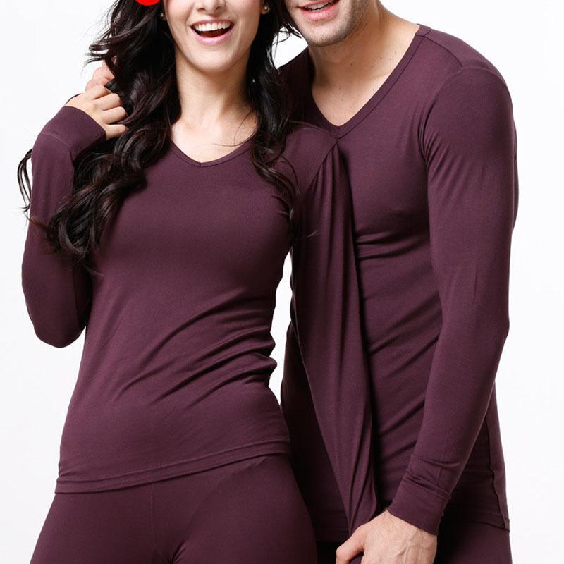 Осень теплый бархат тонкий любителей тепловой одежда пижамы плюс размер O-образным вырезом термобелье для женщин мужские кальсоны