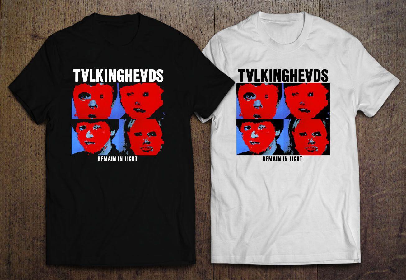 0e27a582 ONE1SIDE TALKING HEADS Remain in Light Men's BLACK WHITE T-SHIRT XS-3XL Hot  Selling 100 % Cotton Printed Mens Men T Shirt