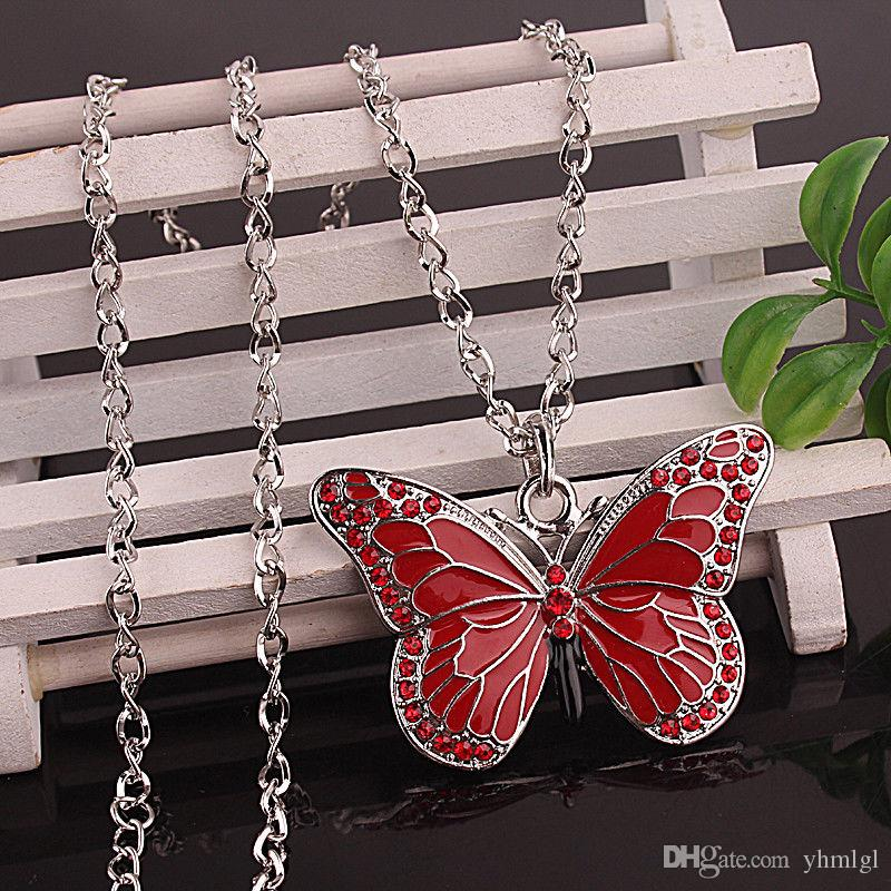 5 Style Fashion Women alloy Austrian Crystal dragonfly butterfly Pendant Necklace