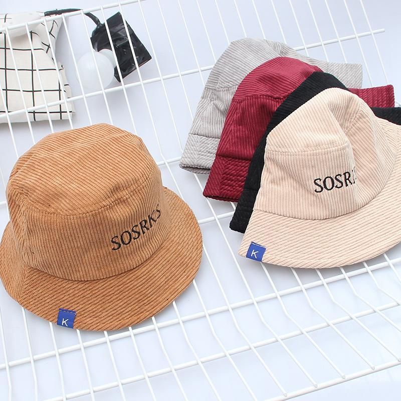 5c51ebe6585 Hat Female Autumn And Winter Corduroy Fisherman Hat Casual Wild ...