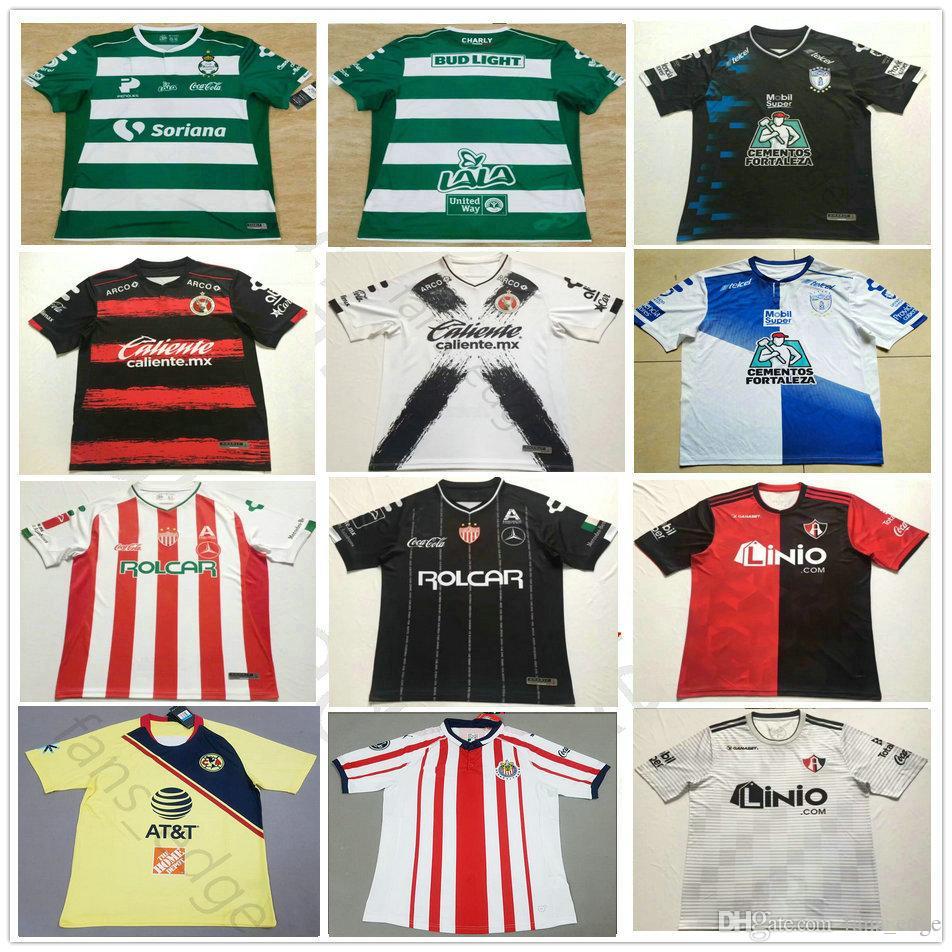 62fa43eab5a 18 19 LIGA MX Soccer Jerseys Club Leon Santos Laguna Necaxa Pachuca ...