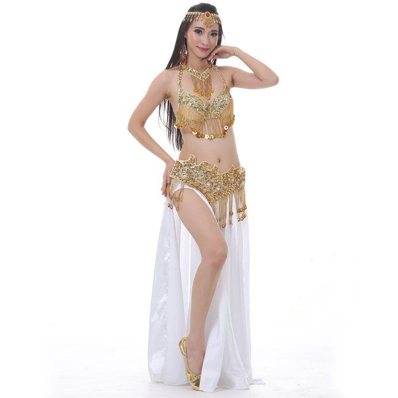 fcef3d17e 2019 Oriental Sequin Beads BellyDance Costumes Bollywood Stage Dance Wear  Cheap Ballroom Belly Dance Costume Set For Women From Finebeautyone, ...