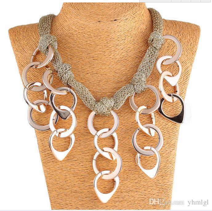 Collar de la declaración del collar de la colgante de la perla de la flor del babero de las mujeres 10style