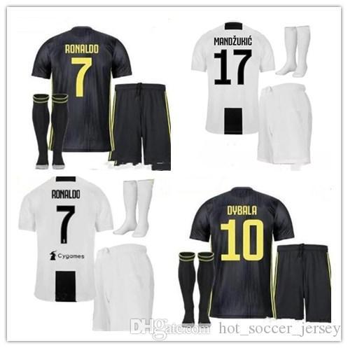 7818f15fe7a 2019 RONALDO JUVENTUS Soccer Jersey 18 19 JUVE 2018 Home Away DYBALA ...