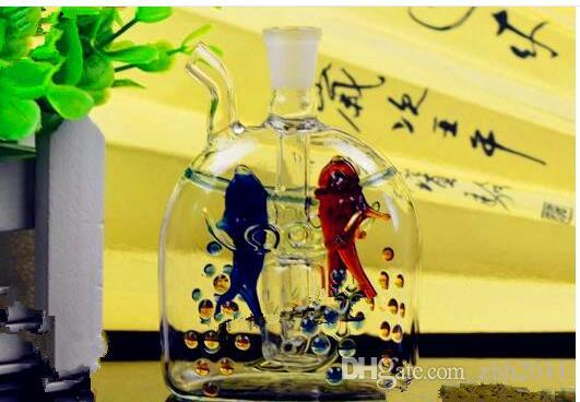 Alterar ponto Peixes hookah Atacado vidro Hookah, vidro de água para tubos, frete grátis