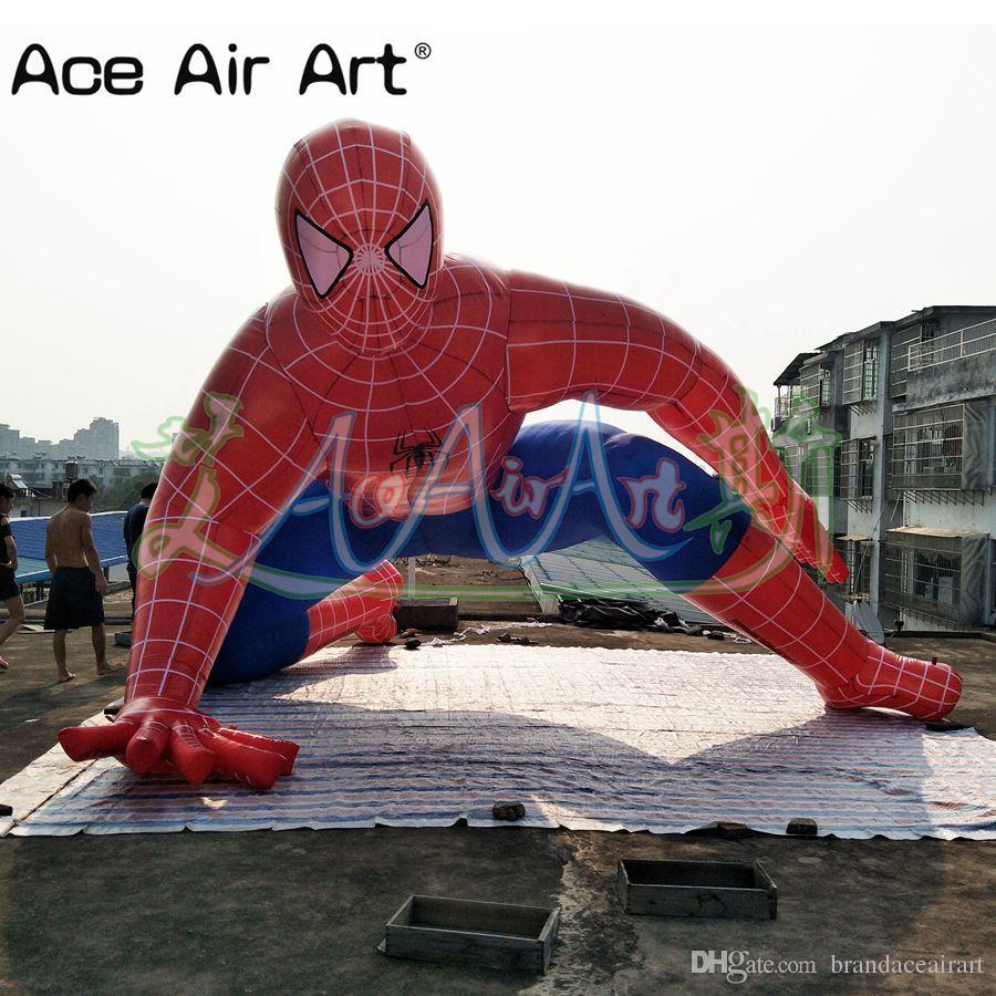 Acquista modello di cartone animato popolare gonfiabile spiderman
