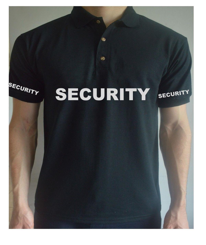Printed Security Doorman Guard Work Workwear Bodyguard Job T Shirt