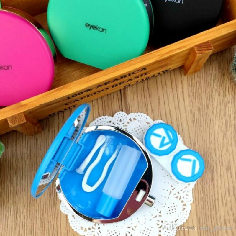 Colorful Perfume Bottles Contact Lenses Case eye Contact Lenses box for Eyewear Accessories Contact Lens case glasses Case L8065