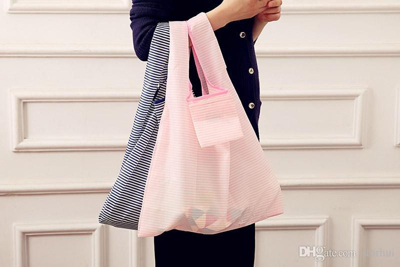 Wiederverwendbare faltbare Einkaufstüten Aufbewahrungstasche Hochleistungs-faltende Einkaufstasche-Tasche wasserdichte Nylon-Einkaufstaschen für Himmel Stern-Streifen WX9-661
