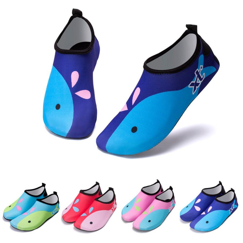 4a9a8e543 Cute Dear Baby Boys Girls Barefoot Swim Water Skin Shoes Aqua Socks Beach  Swim Pool Beach Footwear Accessories AGC0930 Boys Running Gear The Best  Shoes For ...