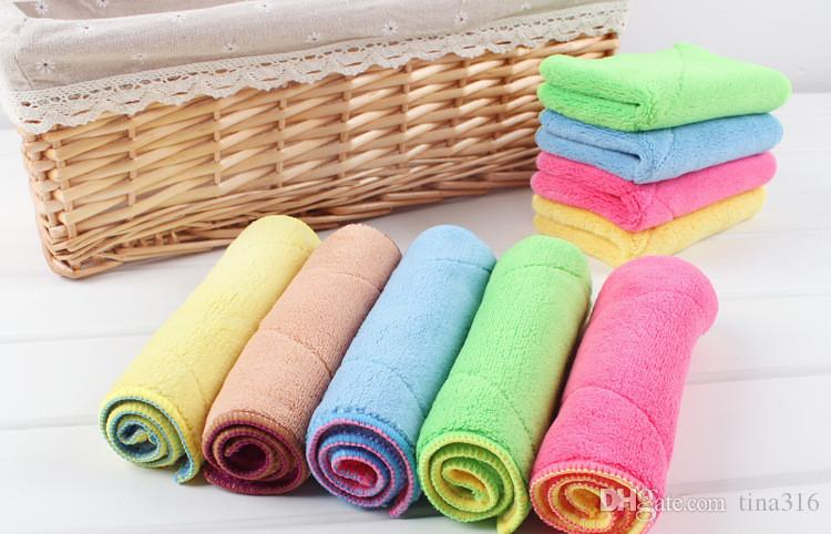 Dish Towel Microfibre Cleaning Soft Double-sided Absorbent Non-stick oil Wash Bowl Towel kitchen Duster Cleaning Cloth T1I141