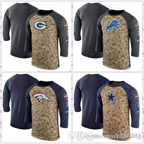 2018 Green Bay Packers Detroit Lions Denver Broncos Dallas Cowboys Salute  To Service Sideline Legend Performance Sleeve T Shirt From Hs080233 7f15d6052