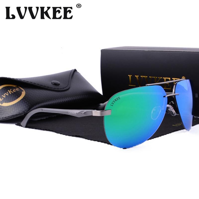 2d6611593 Compre X907 Lvvkee 2018 Marca Polarizada Óculos De Sol Dos Homens De  Alumínio Sem Aro De Magnésio Óculos De Sol Para As Mulheres Hd Anti  Vertigem Eyewear ...