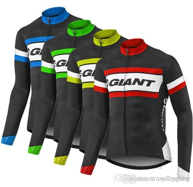Pro Racing Cycling Jersey Team Giant Bicycle Sports Clothes Long ... 89c47441c