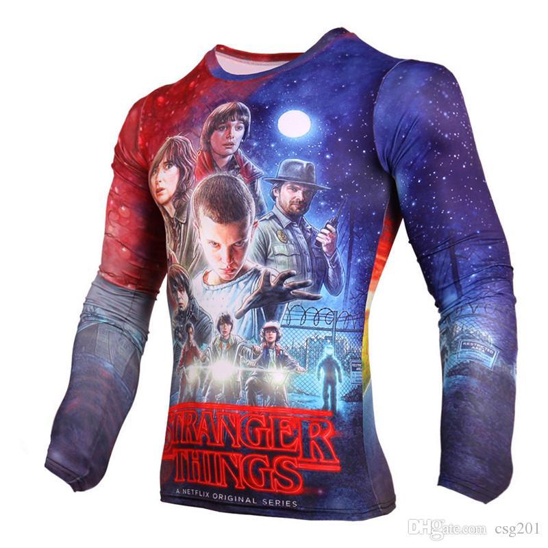 Compre T Shirt De Compressão Para Homens 3D Impresso Estranho Coisas  Soldado Inverno Camiseta Superman Homme Manga Comprida Engraçado Tshirt Mma  Rash Guard ... 56b153770eb42