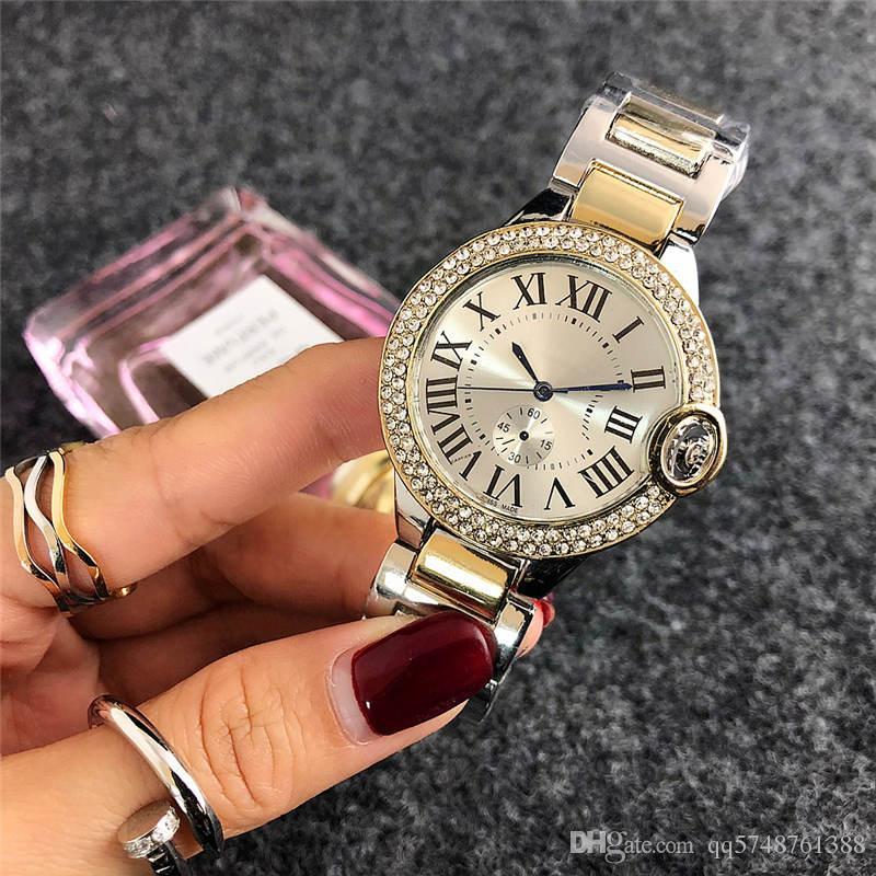 38 ملليمتر reloj موهير أزياء ماركة الماس الكامل مشاهدة النساء بسيطة الرقمية السيدات اللباس الفاخرة مصمم إمرأة الساعات سوار روز الذهب ساعة
