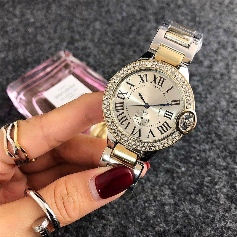 38mm reloj mujer fashion Brand full diamond watch women simple digital Ladies dress Luxury Designer Womens Watches Bracelet Rose Gold Clock