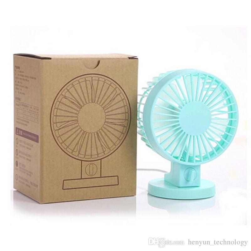 Electric Fans Portable Ultra-quiet Mini USB Hand Fan With Double Side Fan Blades