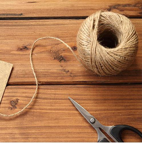 100M 1mm Natural Textured Hessian Jute Twine String Tag Label Hang Rope Wedding Home Woven Decorative DIY Crafts