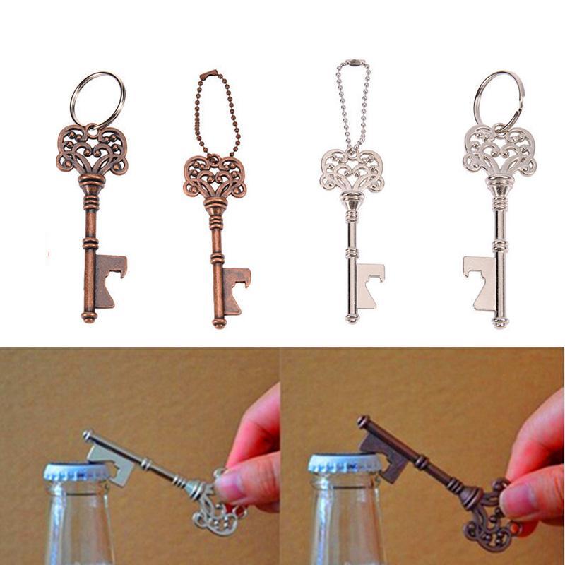 Retro Mini Bottle Openers Portable Key Shape Steel Bottle Openers Beer Wine Bottle Opener Keychain Open Tool