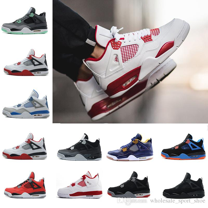f7268c31f448 2019 Discount Sale Basketball Shoes 4 Men Sports Sneakers Shoes 4s IIII Man  Zapatillas Authentic Original Real Replic Size 41 47 From  Wholesale sport shoe