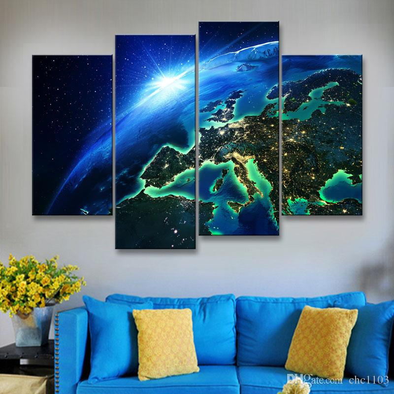 painting & calligraphy print Planet canvas poster wall art living room restaurant Bedroom Decorative paintings XQ4-002
