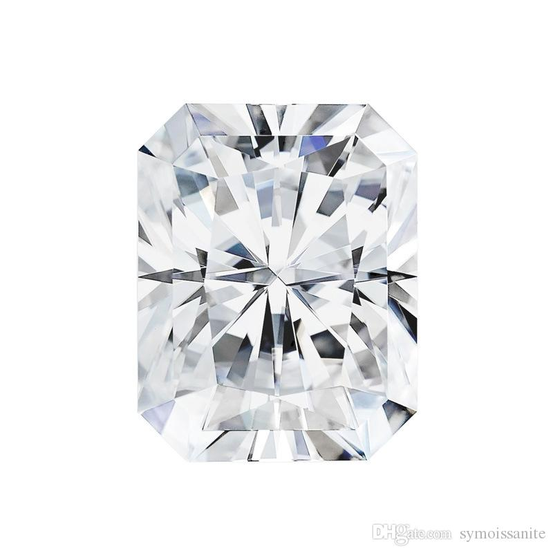 0.2Ct ~ 10.0Ct (2 * 4MM ~ 10 * 14MM) Radiant Cut Com Certificado D / F Cor VVS Clareza Perfeito Lab Diamante Moissanite Diamond Testor Valor Positivo