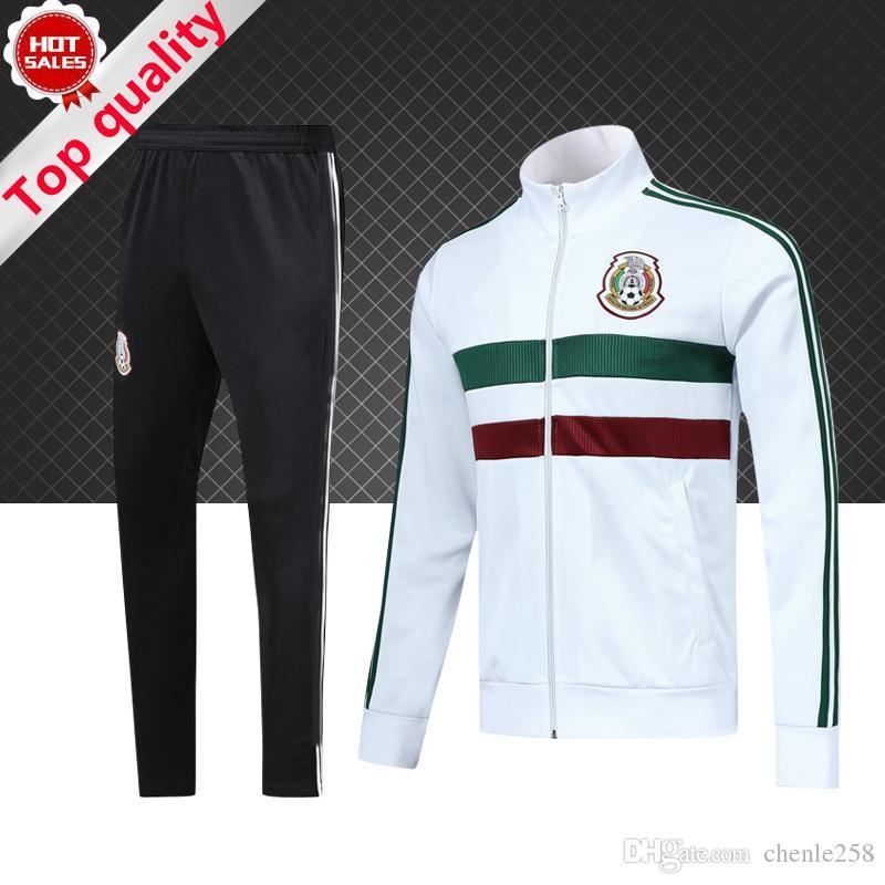 Chaqueta De Fútbol México De Calidad Superior 2018 Chándal De México 18  2019 CHICHARITO Equipo Nacional Chaqueta De Fútbol Entrenamiento Por  Chenle258 75b36acb5ad8e