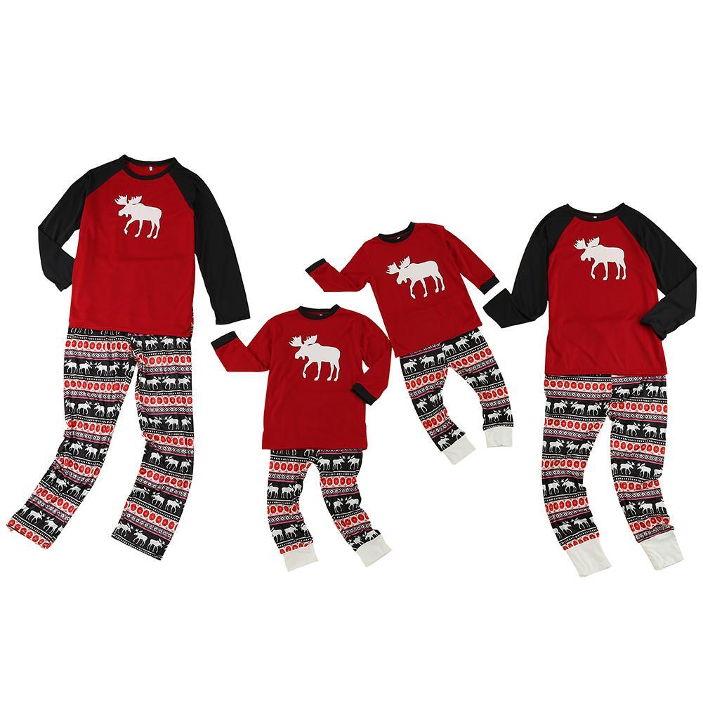 fe4407433 Compre 2018 Nuevo Regalo De Navidad Traje De Pijama Con Estampado De Ciervo  Traje Con Estampado De Ciervo Niños Familia Trajes De Dormir Traje De Padre  E ...
