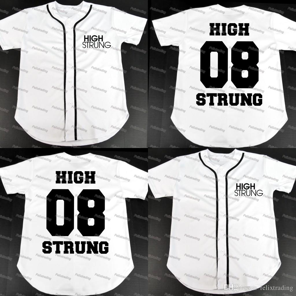 2019 HIGH STRUNG  08 BASEBALL JERSEY Women Youth Men Movie Jerseys Men All  Stitched Baseball Jerseys From Felixtrading dfa1fd2bad