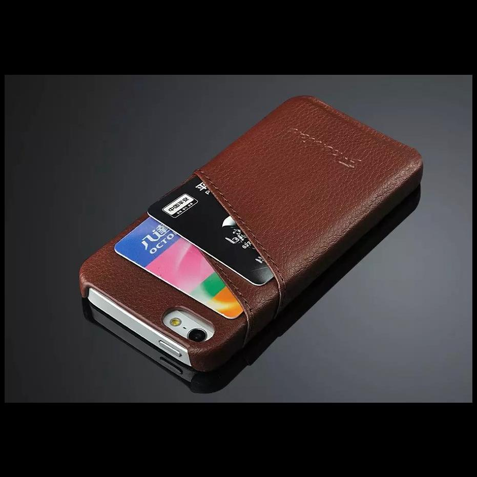the latest 6e6c4 5995b For Iphone 5s Case Litchi Genuine Leather Back Cover Capa For Iphone 5 Case  With Card Slot For Iphone Se Case