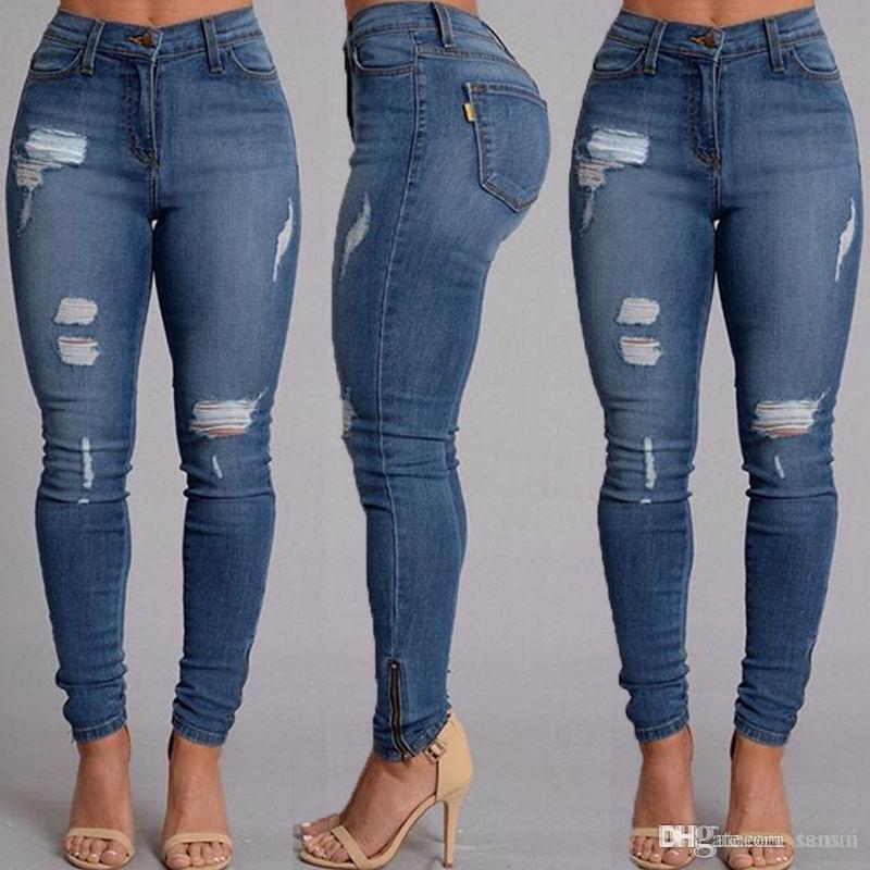 145821a248f14 Satın Al Toptan Sıcak Satış Kadınlar Ince Kot Rahat Sokak Giyim Seksi Kadın  Denim Sıska Pantolon Yüksek Bel Streç Kalem Pantolon, $33.49 | DHgate.Com'da