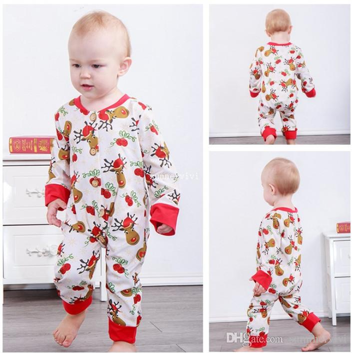37a7d20c293 INS Baby Boys Romper Infant Girls Xmas Bell Reindeer Princess Jumpsuits  Infant Kids Cartoon Clothing Christmas Party Romper F2256 Baby Xmas  Reindeer Rompers ...